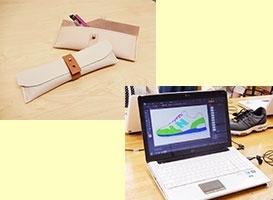 レザーペンケース制作&スニーカーデザイン体験